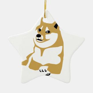 Doge - internet meme ceramic star decoration