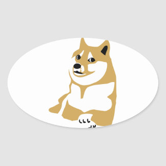 Doge - internet meme oval sticker