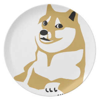Doge - internet meme plate