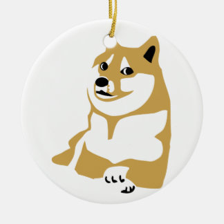 Doge - internet meme round ceramic decoration