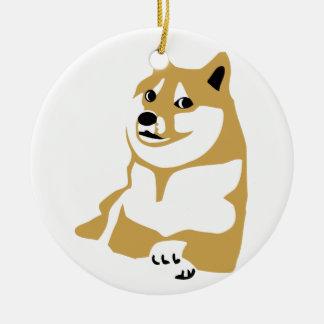 Doge - internet meme round ceramic decoration