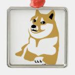 Doge - internet meme Silver-Colored square decoration
