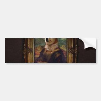 Doge Mona Lisa Fine Art Shibe Meme Painting Bumper Sticker