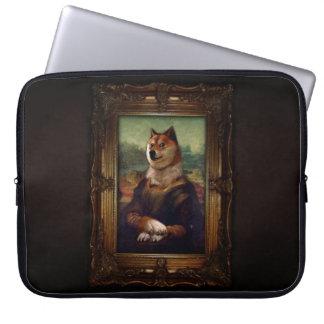 Doge Mona Lisa Fine Art Shibe Meme Painting Computer Sleeve