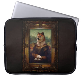 Doge Mona Lisa Fine Art Shibe Meme Painting Laptop Sleeve