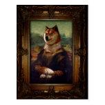 Doge Mona Lisa Fine Art Shibe Meme Painting Postcard