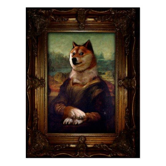 Doge Mona Lisa Fine Art Shibe Meme Painting