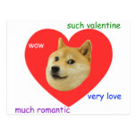 Doge Much Valentines Day Very Love Such Romantic Postcard