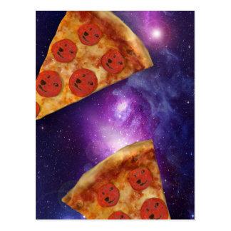Doge Pizza Galaxy Postcard
