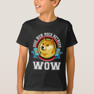 Doge Shibe Wow WOW Much Network Emblem Tee Shirt