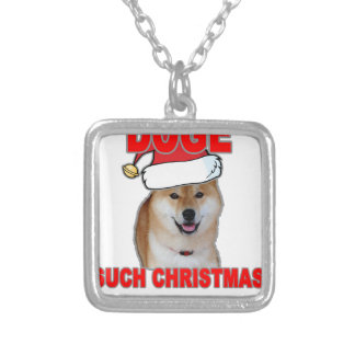 Doge Such Christmas Tee Shirts H png Personalized Necklace