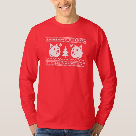 DOGE UGLY CHRISTMAS SWEATER PATTERN