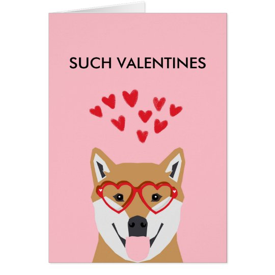 Doge Valentines Card - love dogs shiba inu