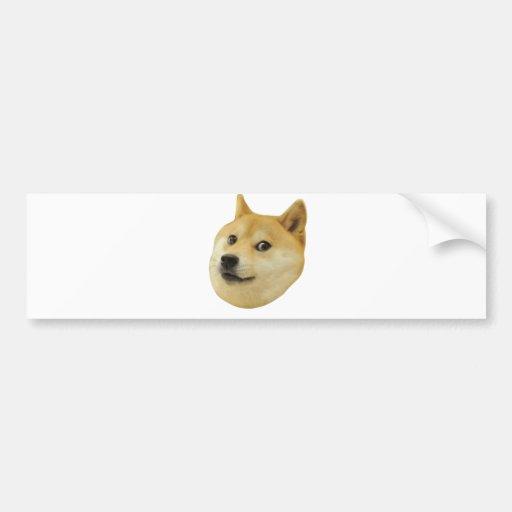 Doge Very Wow Much Dog Such Shiba Shibe Inu Bumper Sticker