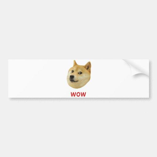 Doge Very Wow Much Dog Such Shiba Shibe Inu Bumper Stickers