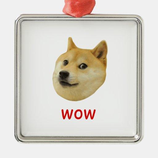 Doge Very Wow Much Dog Such Shiba Shibe Inu Christmas Tree Ornaments