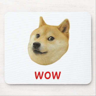 Doge Very Wow Much Dog Such Shiba Shibe Inu Mouse Pad