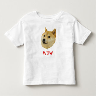 Doge Very Wow Much Dog Such Shiba Shibe Inu Toddler T-Shirt