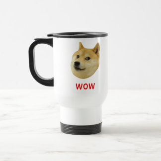 Doge Very Wow Much Dog Such Shiba Shibe Inu Travel Mug