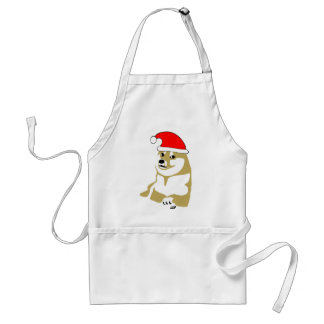 doge wow meme very xmas such hat many santa apron