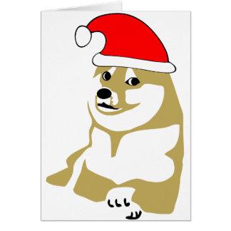 doge wow meme very xmas such hat many santa greeting card