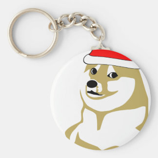 doge wow meme very xmas such hat many santa key ring