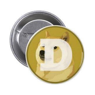dogecoin botom 6 cm round badge