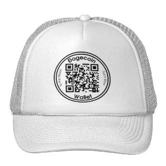 Dogecoin Wallet QR Code Round Hat