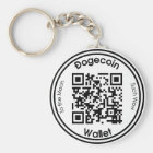 Dogecoin Wallet QR Code Round Key Ring