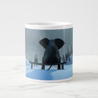 DogElephant Friends 20 Oz Large Ceramic Coffee Mug Jumbo Mug