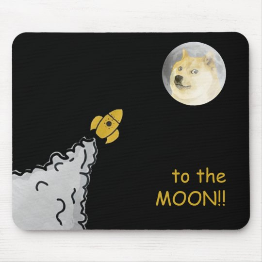 Dogepad - The Dogecoin Mouse Pad! Mouse Mat