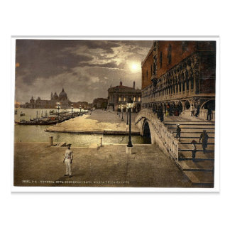 Doges' Palace and St. Mark's by moonlight, Venice, Postcard