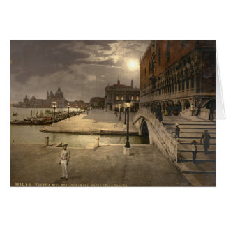 Doge's Palace by Moonlight, Venice, Italy Card