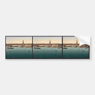 Doges' Palace, Venice, Italy vintage Photochrom Bumper Sticker