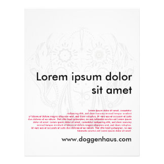 Doggen flyers/throw sheet 21.5 cm x 28 cm flyer