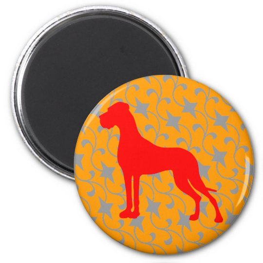 Doggenmagnet red orange magnet