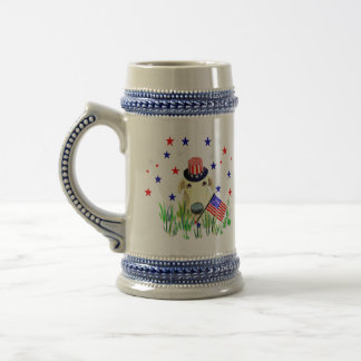 Doggie 4th Of July Beer Steins