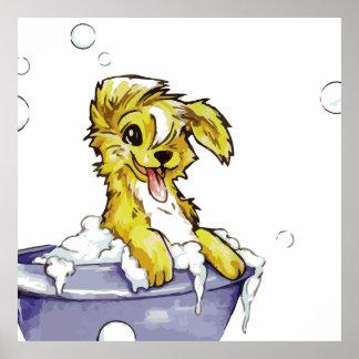 Doggie Bubble Bath Posters