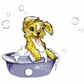 Doggie Bubble Bath Standing Photo Sculpture
