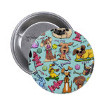 Doggie Collage Pinback Buttons
