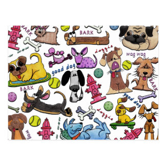 Doggie Collage Postcards