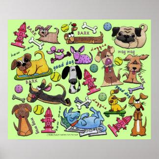 Doggie Collage Print