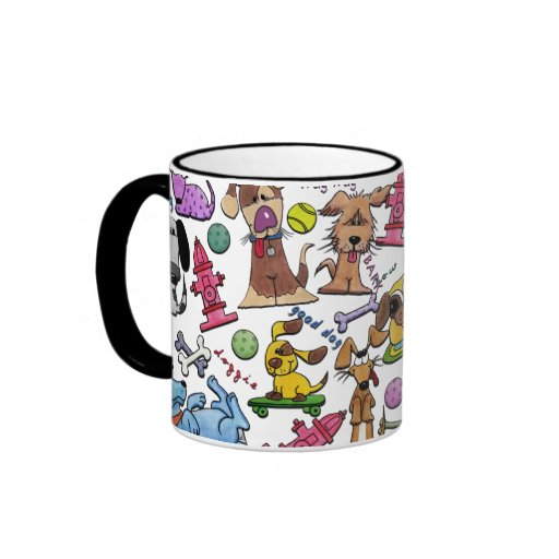 Doggie Collage Ringer Mug