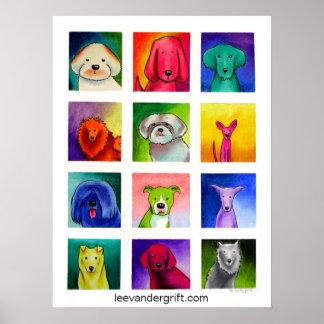 Doggie Dozen, leevandergrift.com Print