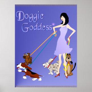 Doggie Goddess Poster