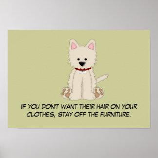 Doggie Hair Rule #2 Poster