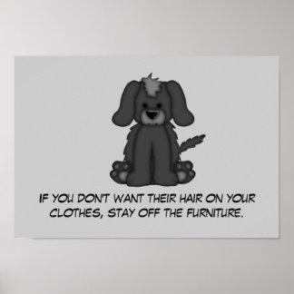 Doggie Hair Rule #3 Poster