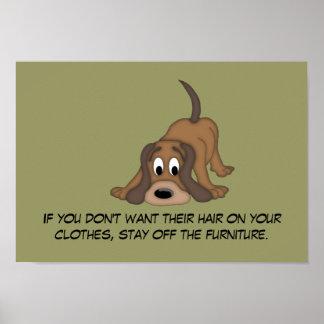 Doggie Hair Rule #5 Poster