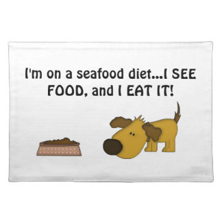 Doggie Humor-Cute Puppy Placemats
