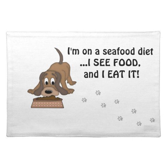 Doggie Humour-Cute Puppy+Dog Food Place Mat